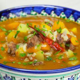 Обед в таджикском стиле