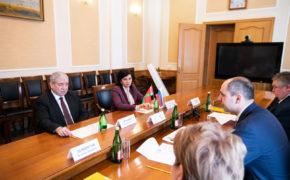 Денис Паслер встретился с послом Беларуси в России Владимиром Семашко
