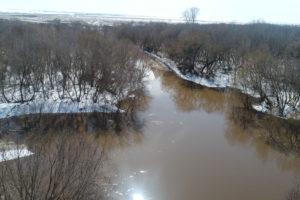 Уровень воды в реках Оренбургской области поднимается до 97 сантиметров в сутки