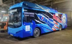 По Оренбургу начал курсировать «космический» автобус