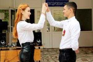 В семи школах Бугурусланского района состоялся танцевальный флешмоб «Вальс Победы»