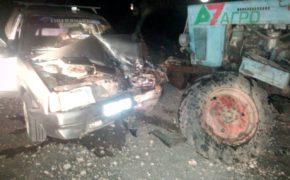 В Красногвардейском районе водитель автомобиля погиб при столкновении с трактором (18+)